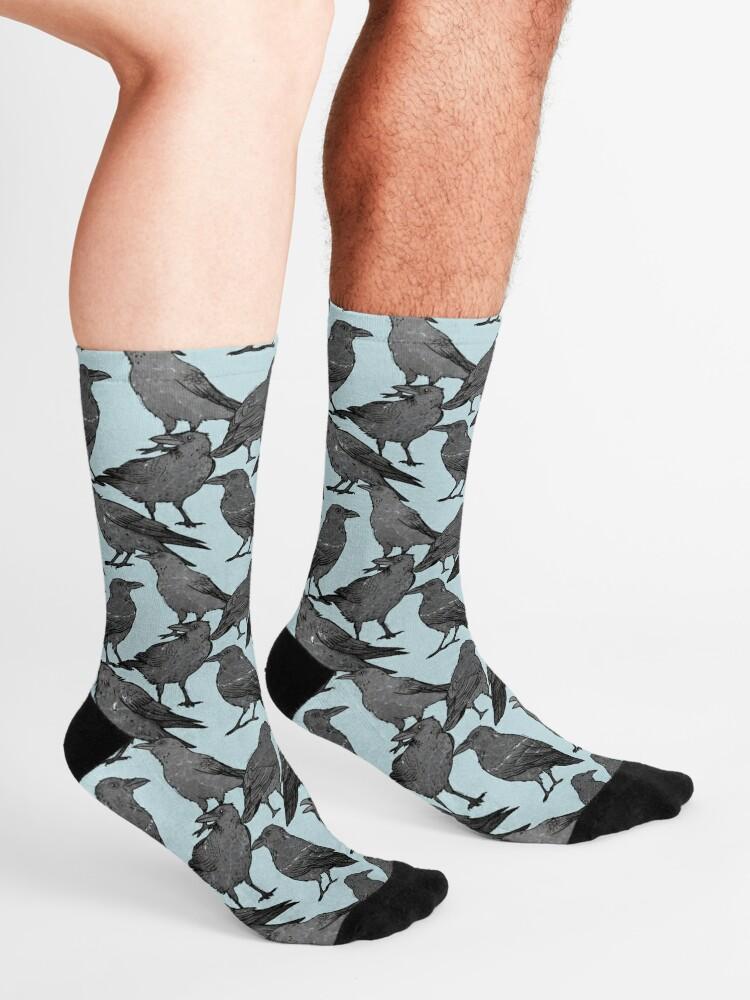 Alternate view of Cute crow pattern Socks
