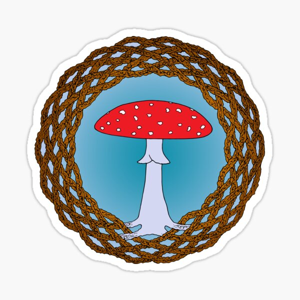 Celtic Fly Agaric Sticker