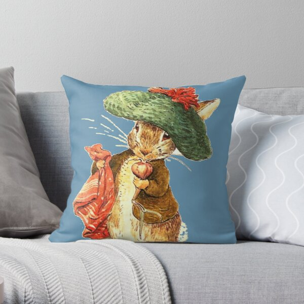 Benjamin Bunny - Beatrix Potter Throw Pillow