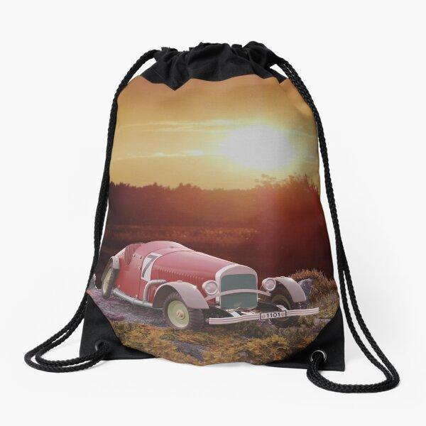 Vintage car toy Drawstring Bag