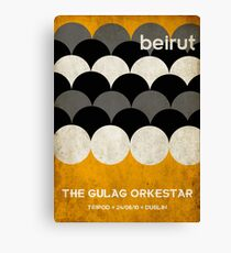 Beirut World Tour Poster Canvas Print