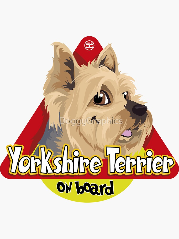 Yorkshire Terrier On Board by DoggyGraphics