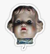 Doll Head T-Shirt Sticker
