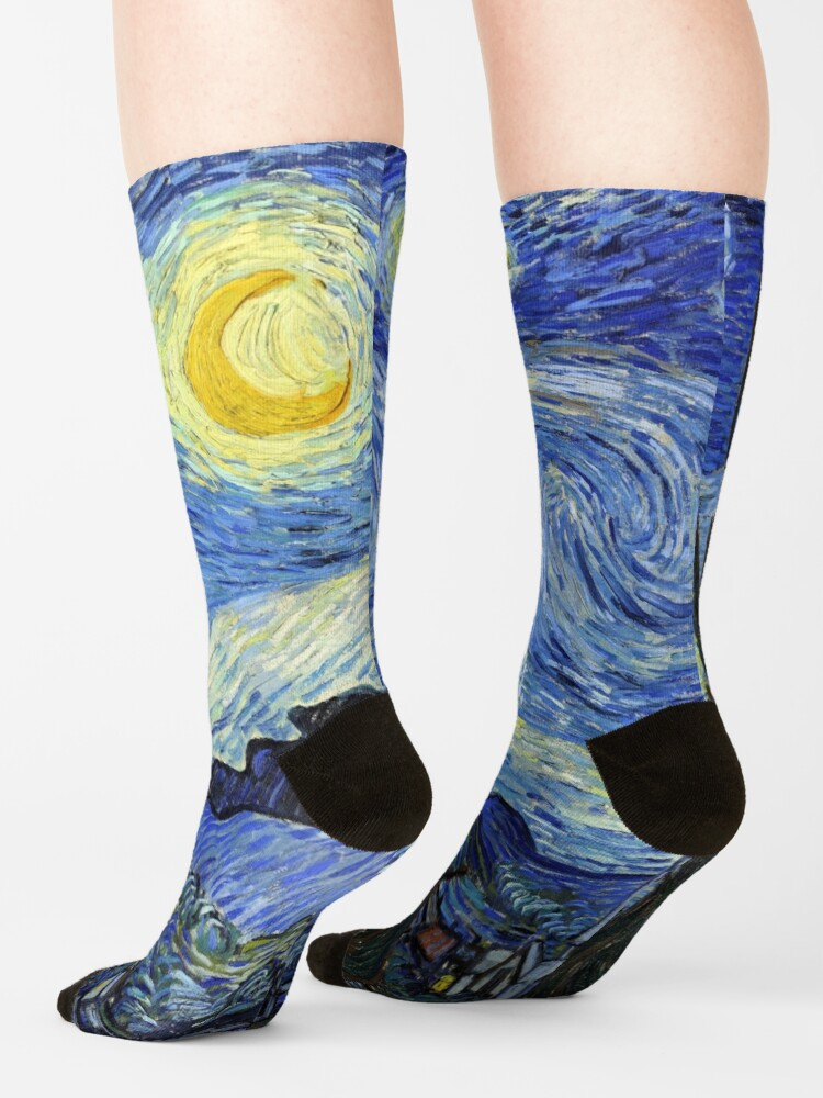 Alternate view of Starry Night, Van Gogh Socks