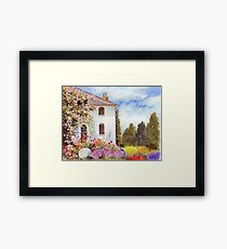 THE HOUSE WITH THE ROSES Framed Print