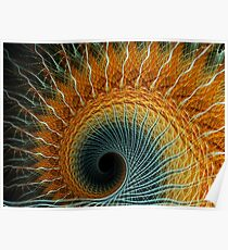 Spiral Rays ~ Apophysis Fractal.. Poster