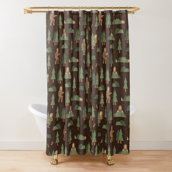 Bigfoot Forest Shower Curtain