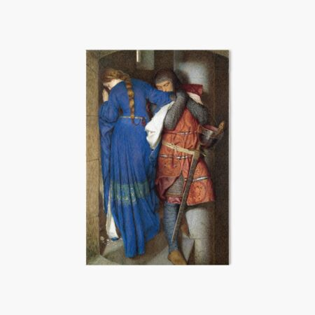 The Meeting on the Turret Stairs - Frederick Burton 1864 Art Board Print