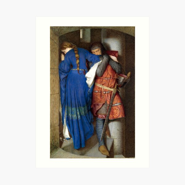 The Meeting on the Turret Stairs - Frederick Burton 1864 Art Print