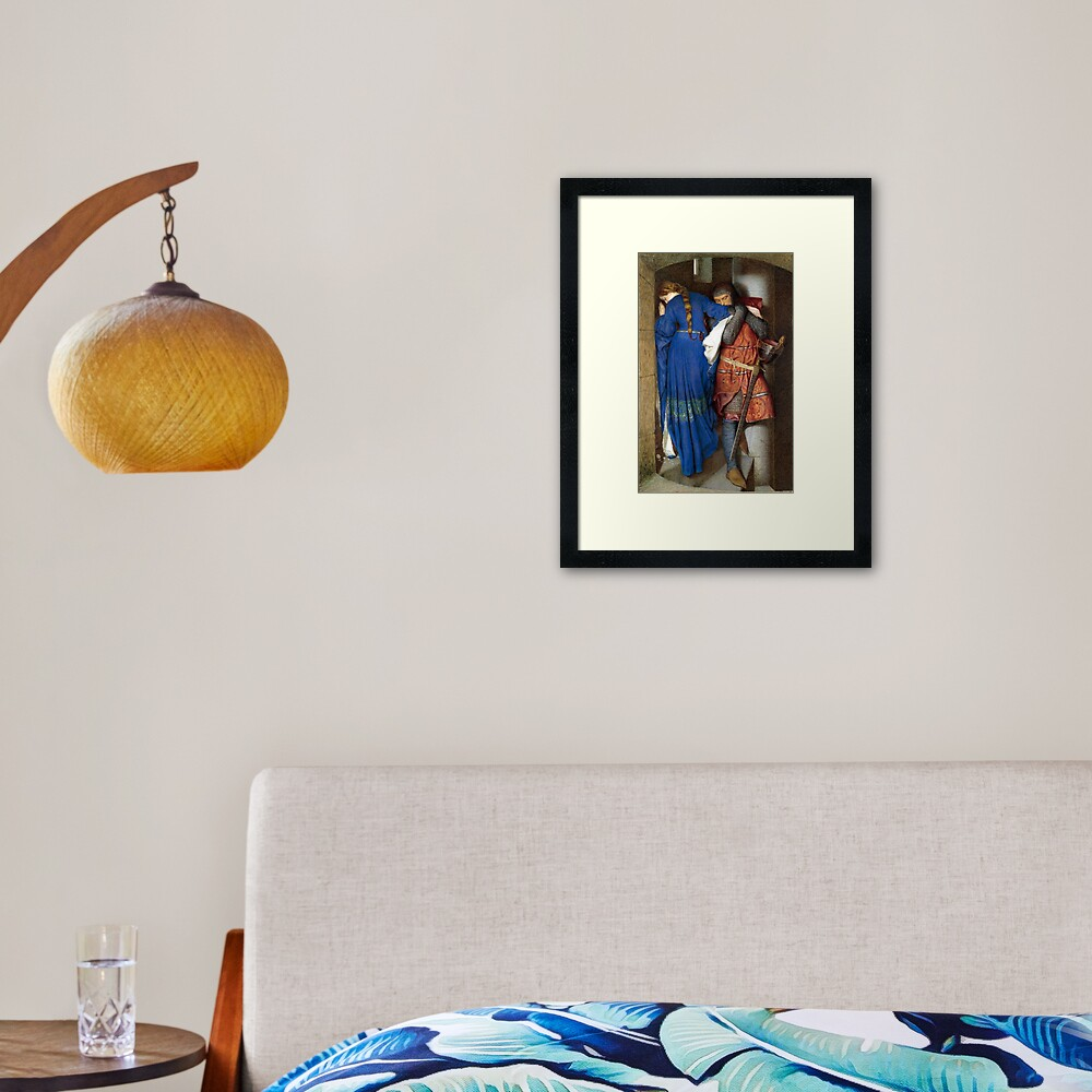 The Meeting on the Turret Stairs - Frederick Burton 1864 Framed Art Print