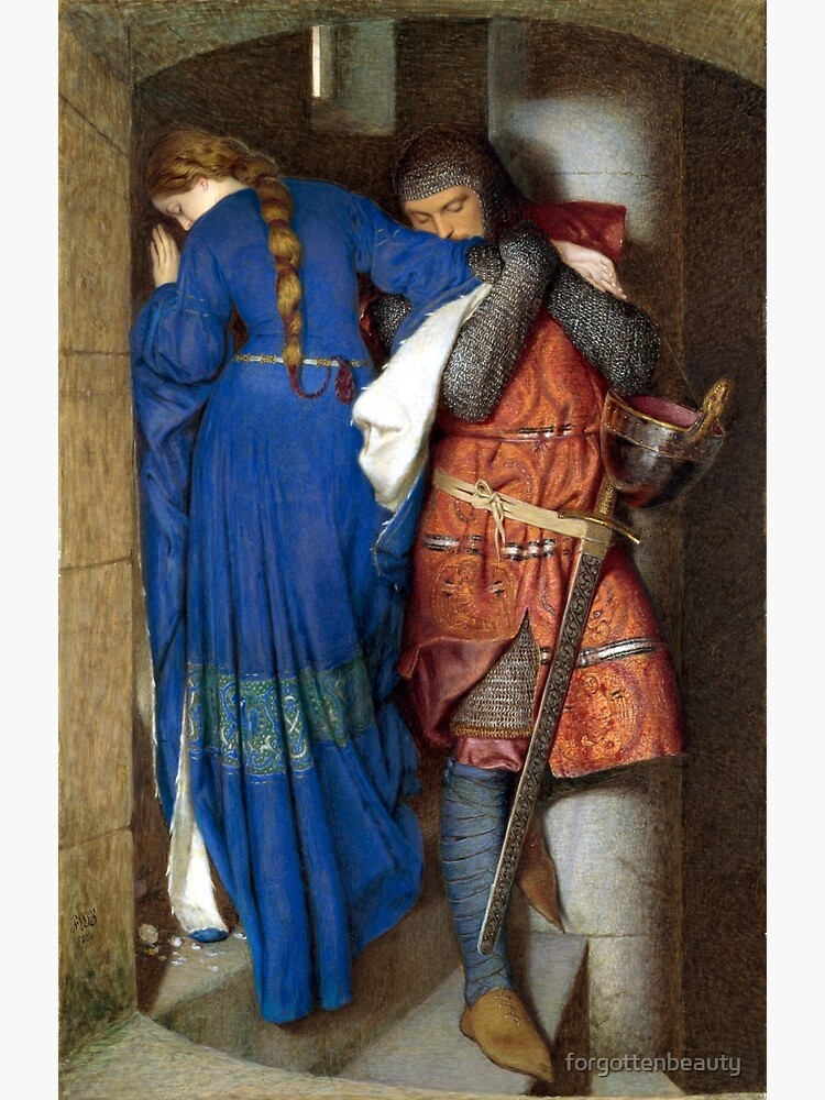 The Meeting on the Turret Stairs - Frederick Burton 1864 by forgottenbeauty