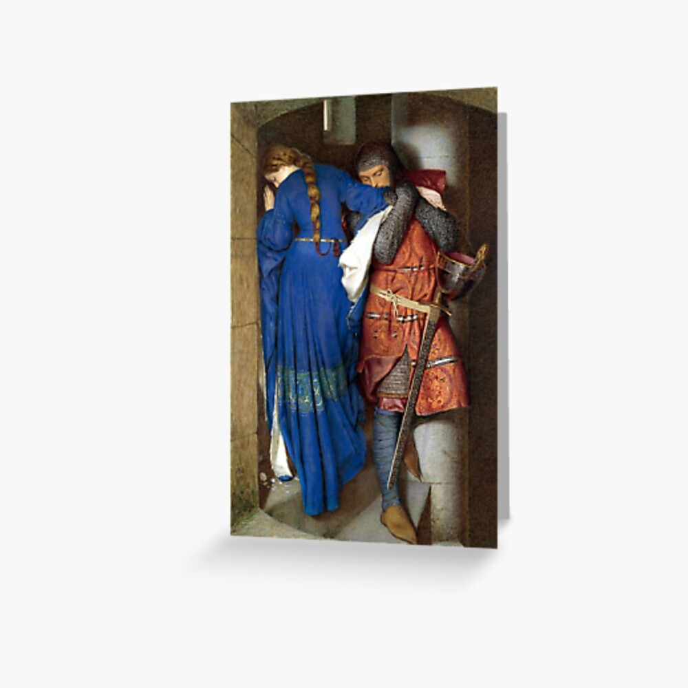 The Meeting on the Turret Stairs - Frederick Burton 1864 Greeting Card