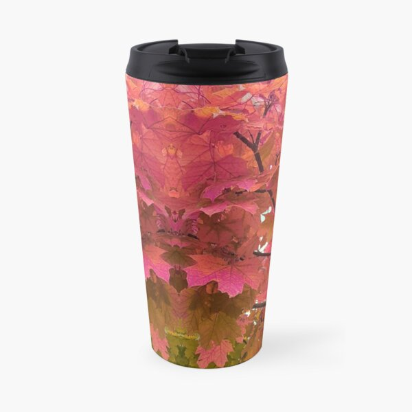 Autumn trees with pink and orange leaves - nature at its best Travel Mug