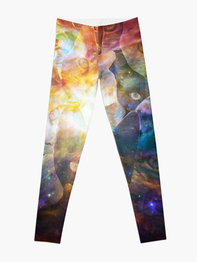Alternate view of Kitty Galaxy Leggings