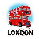 Double Decker Bus Poster By Designbek Redbubble