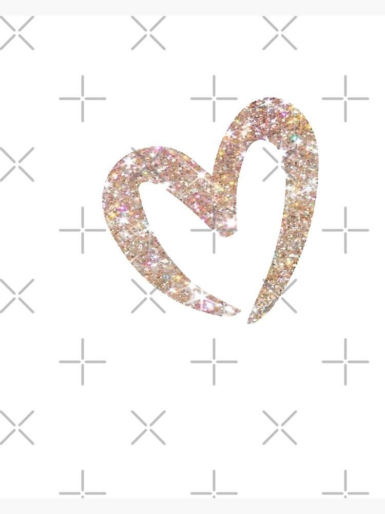 Almost Famous Little Girls Heart Glitter Print