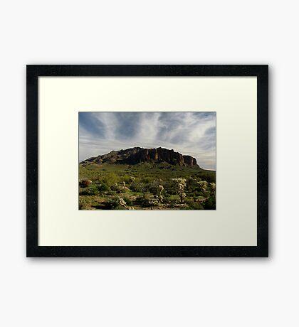 Superstition Mountain ~ Apache Trail, Arizona Framed Print