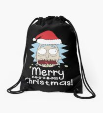 Lustige Rick Frohe Rülpsen Weihnachten (Rick und Morty) Turnbeutel