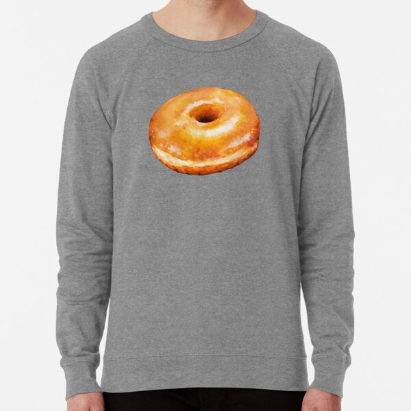 Glazed Donut Pattern Lightweight Sweatshirt