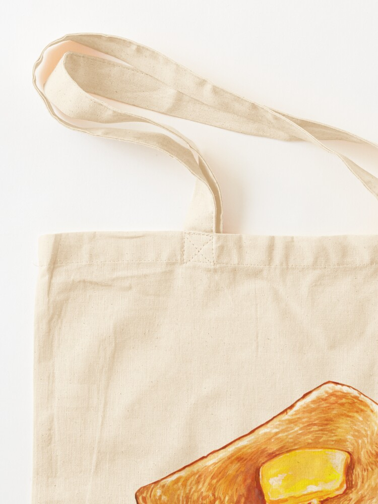 Alternate view of Buttered Toast Pattern Tote Bag