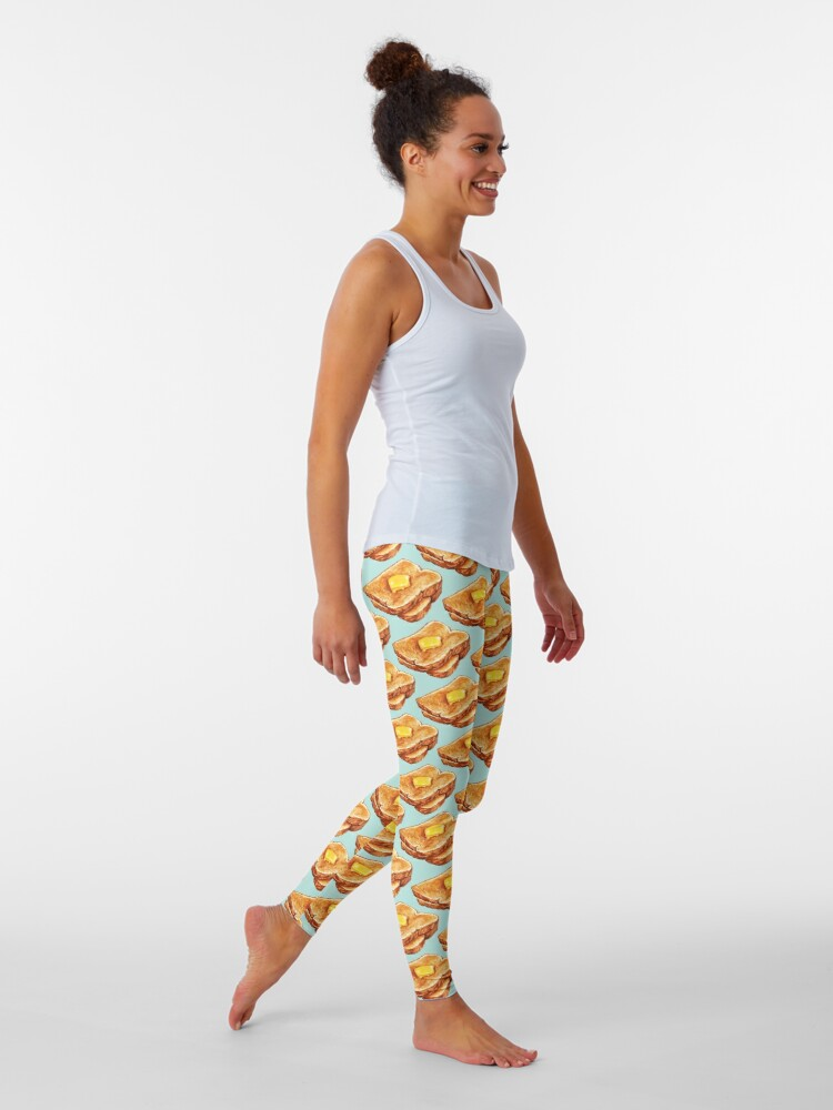 Alternate view of Buttered Toast Pattern Leggings