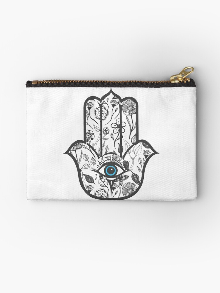 Simple Hand Drawn Floral Hamsa By Blkstrawberry