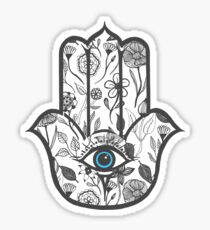 Simple Hand Drawn Floral Hamsa Hand Sticker