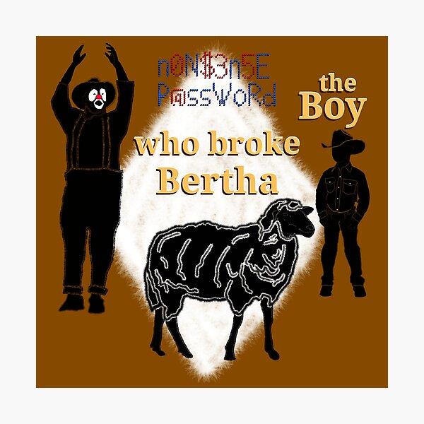 The Boy Who Broke Bertha Photographic Print