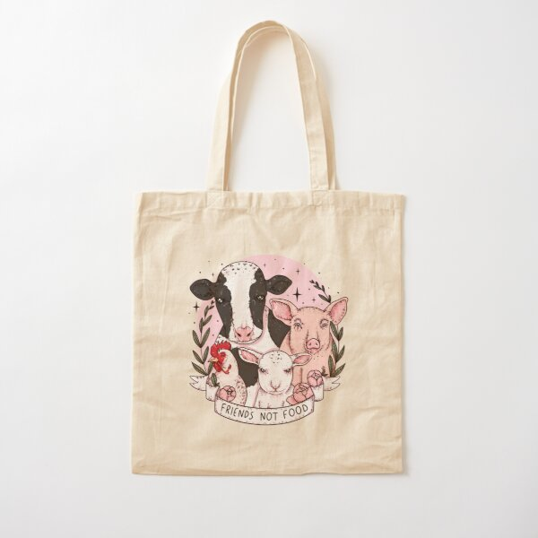 friends not food Cotton Tote Bag