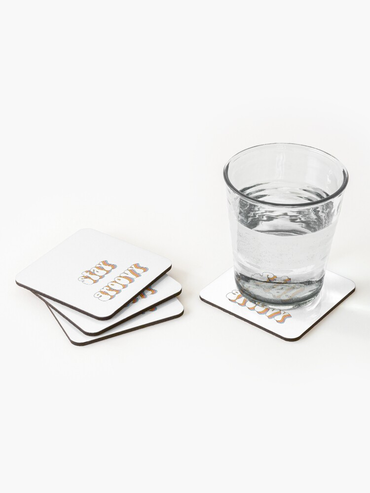 Alternate view of STAY GROOVY STICKER Coasters (Set of 4)