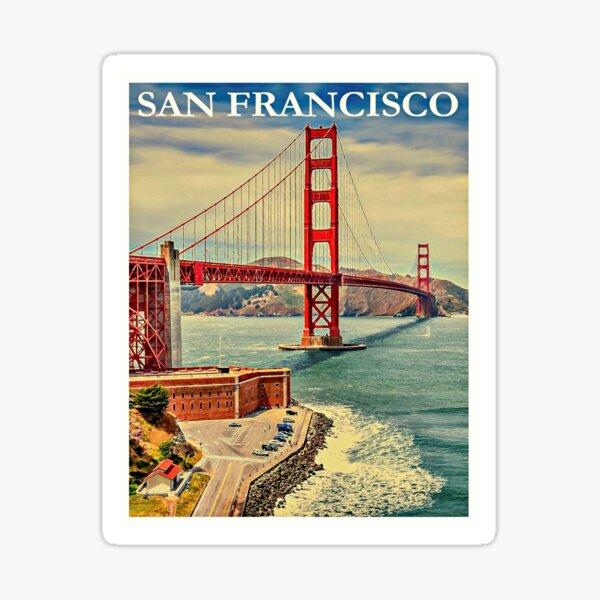 Vintage San Francisco Travel Poster Sticker