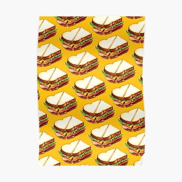 Ham Sandwich Pattern Poster