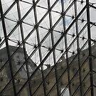 Through Triangular Glass I - Louvre by Danielle Ducrest