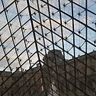 Through Triangular Glass III - Louvre by Danielle Ducrest