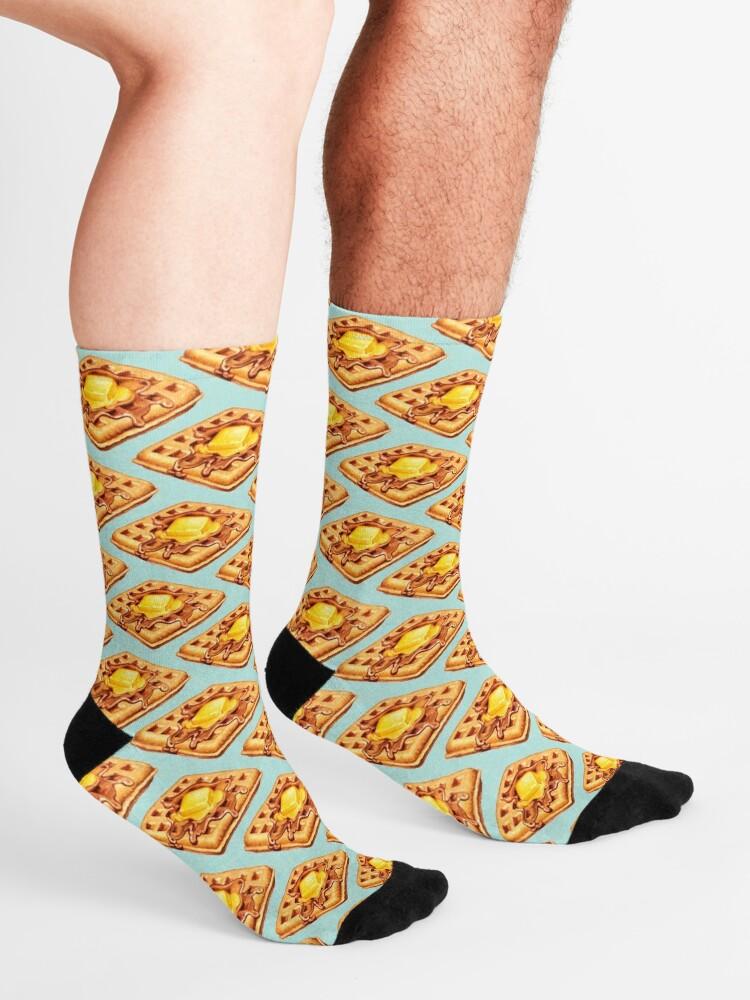 Alternate view of Waffle Pattern Socks