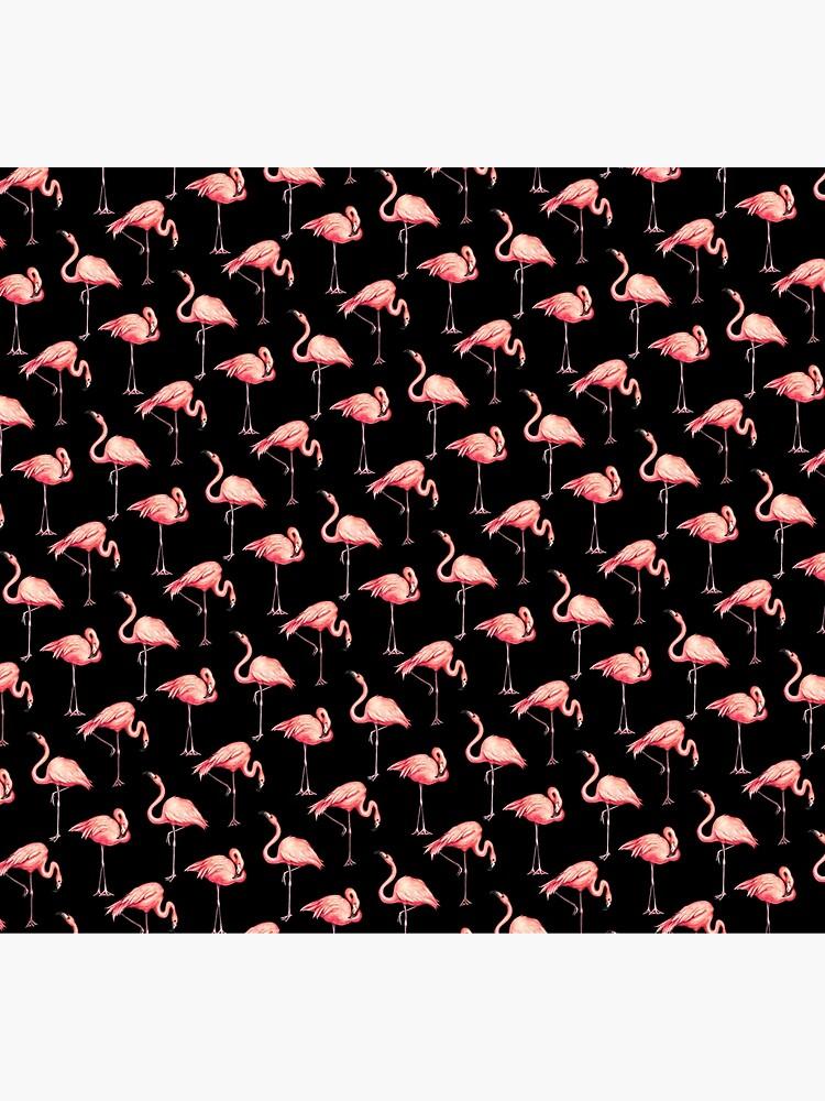 Flamingo Pattern - Black by KellyGilleran
