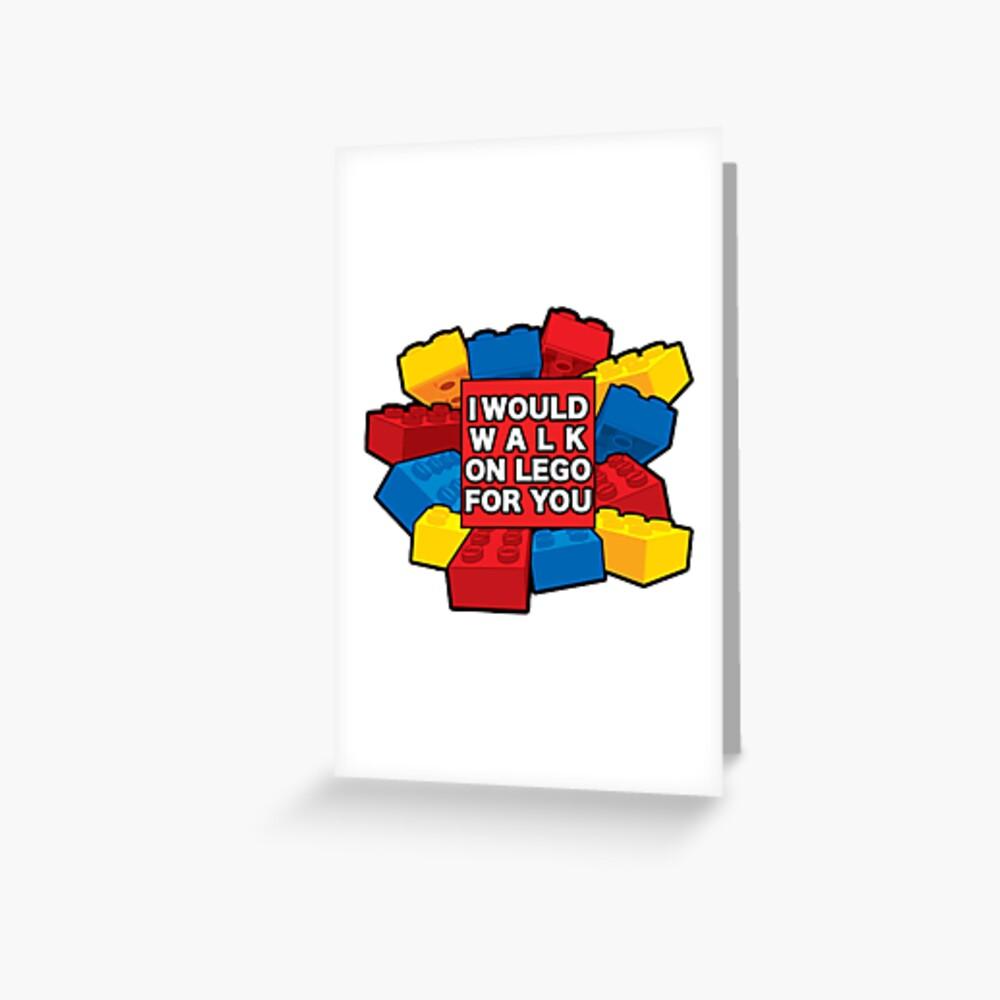 Ich würde auf Lego für dich gehen Grußkarte