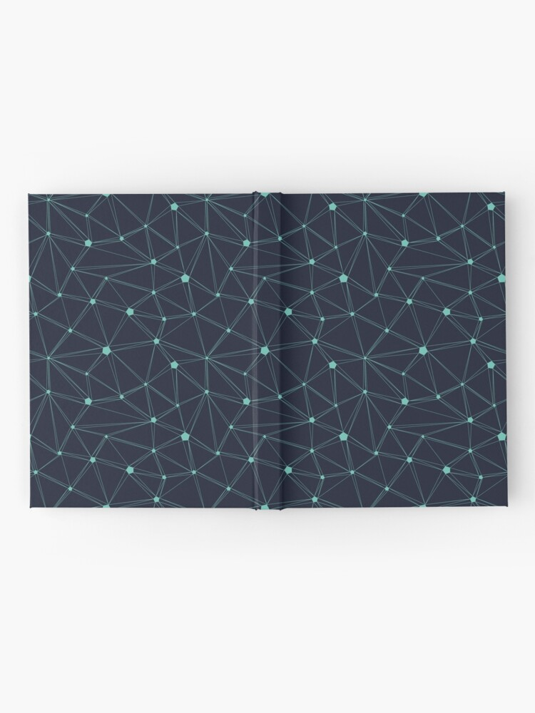 Alternate view of Pentagon grid navy and turquoise Hardcover Journal