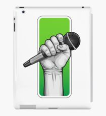 hand with microphone iPad Case/Skin