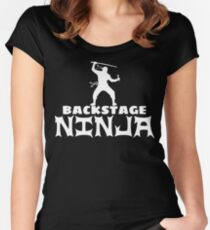Backstage Ninja Women's Fitted Scoop T-Shirt