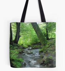 Woodland stream in summer Tote Bag