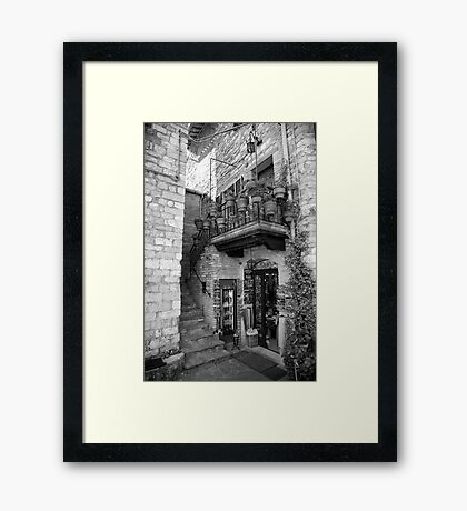 cityscapes #190, shop potted Framed Print