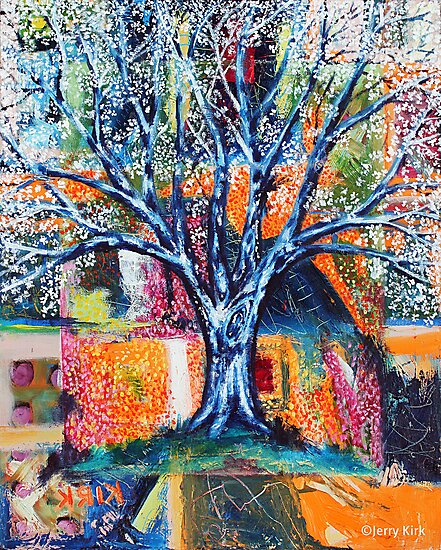 ''HERALD TO SPRING (BRADFORD PEAR TREE)'  by Jerry Kirk