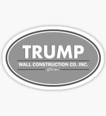 TRUMP Wall Construction Sticker