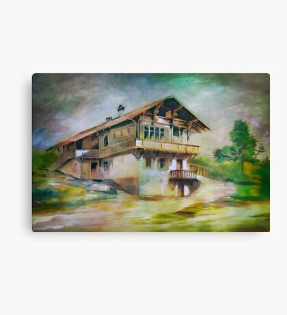 German cottage..... Canvas Print