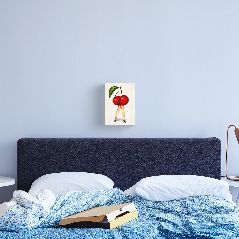 Fruit Stand - Cherry Girl Canvas Print