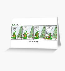 Falling Stars Cartoon Strip Greeting Card