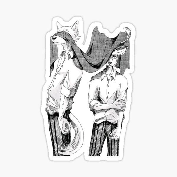 Beastars louis and legosi Sticker