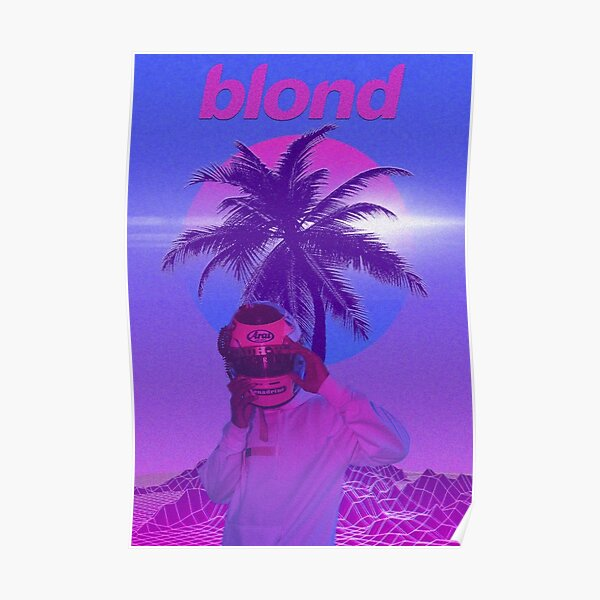 Frank Ocean Vaporwave Poster