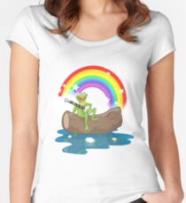 The Rainbow Connection Women's Fitted Scoop T-Shirt